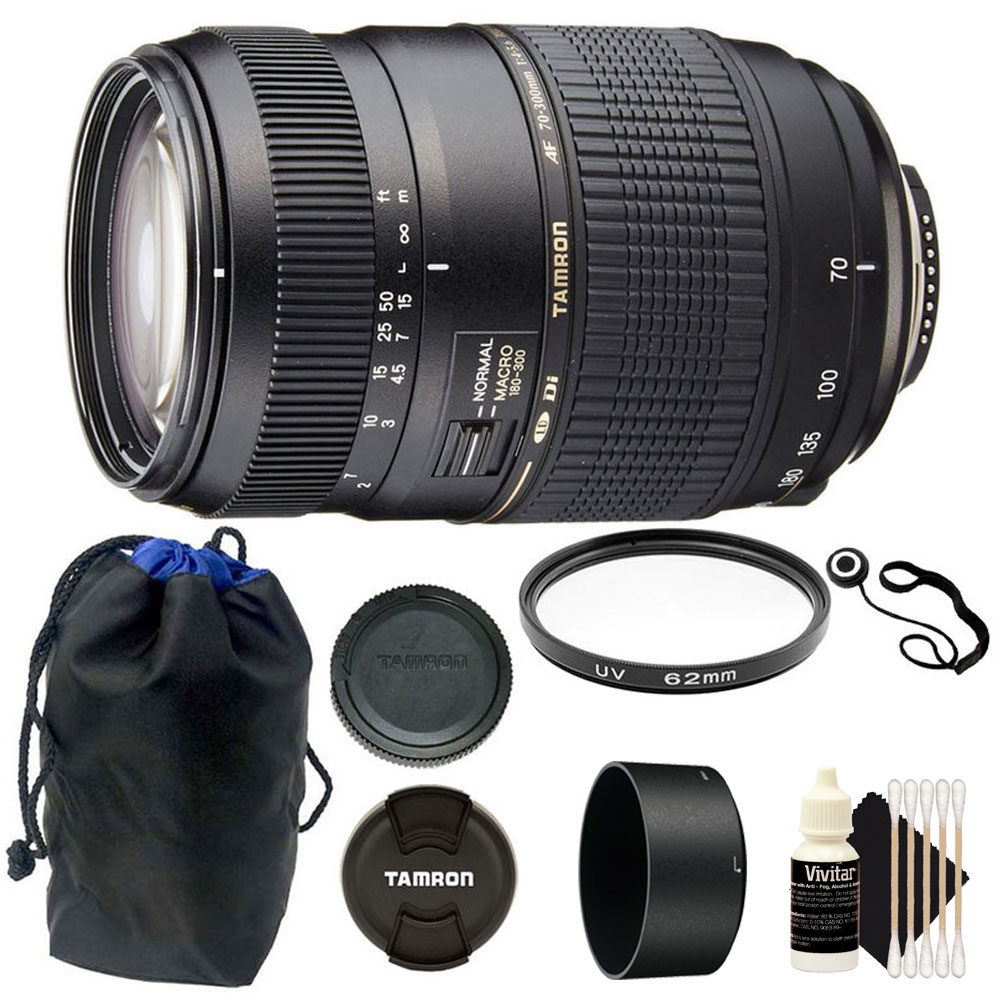 Details about TAMRON AF 70-300mm f4-5.6 DI LD MACRO for Canon DSLR Camera Accessory Kit
