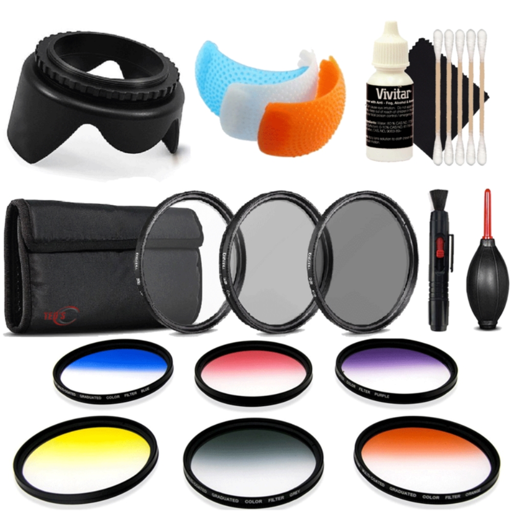 Details about 58mm Color Filter Kit with Accessory Bundle for Canon EOS 77D  , 80D and 1300D