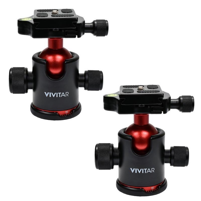 Vivitar Tripod Ball Head Mount 360/° Swivel Camera with Quick Release for Camera Tripod Monopod