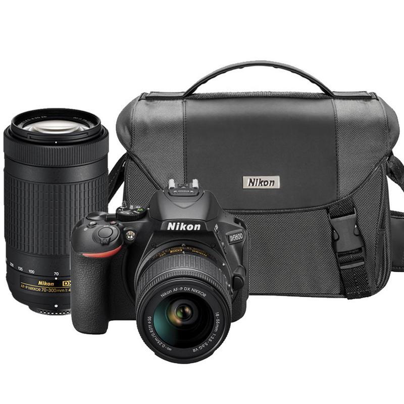 Details about Nikon D5600 24 2MP DSLR Camera with Nikon 18-55mm + 70-300mm  Lens + Camera Case