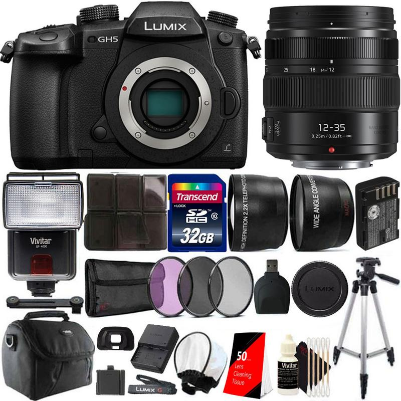 Cleaning Kit CASE Panasonic Lumix DC-GH5S Mirrorless Camera Lumix G X Vario 12-35mm f//2.8 II Lens /& More 64GB